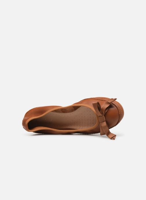Ballerines Clarks Clovelly Walk Marron vue gauche
