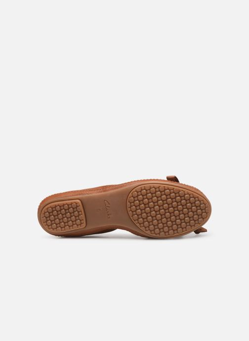 Ballerines Clarks Clovelly Walk Marron vue haut