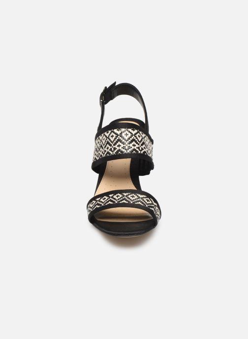 Sandales et nu-pieds Clarks Image Weave Noir vue portées chaussures