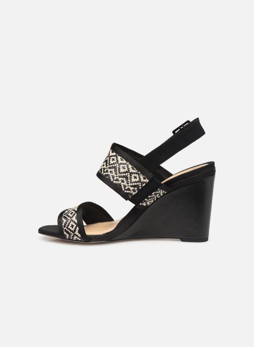 Sandales et nu-pieds Clarks Image Weave Noir vue face