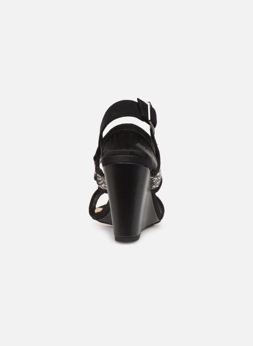 Sandales et nu-pieds Clarks Image Weave Noir vue droite