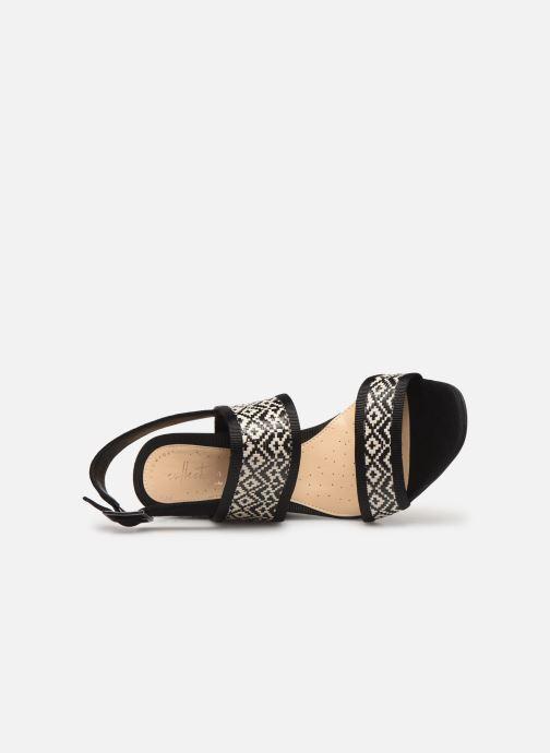 Sandales et nu-pieds Clarks Image Weave Noir vue gauche