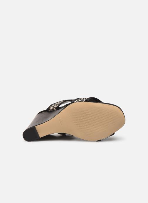 Sandales et nu-pieds Clarks Image Weave Noir vue haut