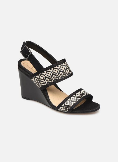 Sandales et nu-pieds Clarks Image Weave Noir vue détail/paire