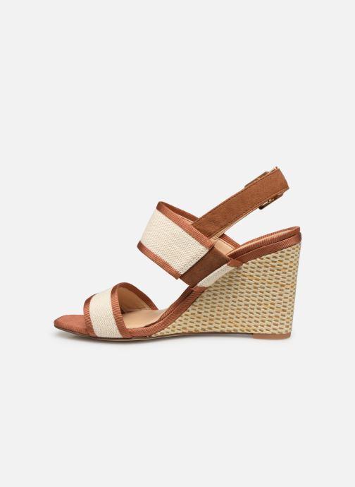 Sandales et nu-pieds Clarks Image Weave Marron vue face
