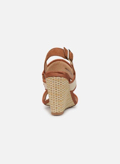 Sandales et nu-pieds Clarks Image Weave Marron vue droite