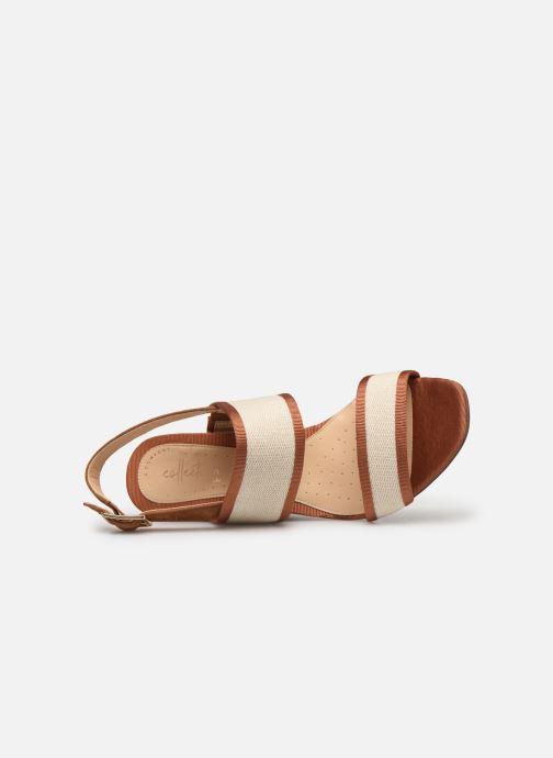Sandales et nu-pieds Clarks Image Weave Marron vue gauche