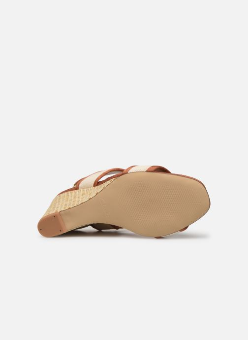 Sandales et nu-pieds Clarks Image Weave Marron vue haut