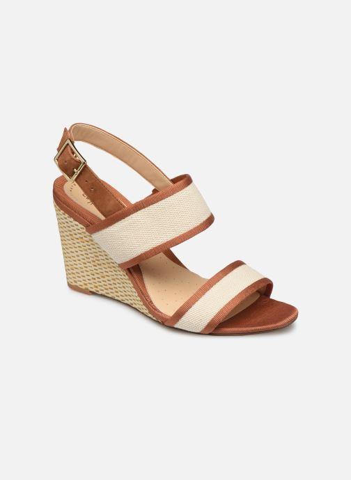 Sandales et nu-pieds Clarks Image Weave Marron vue détail/paire