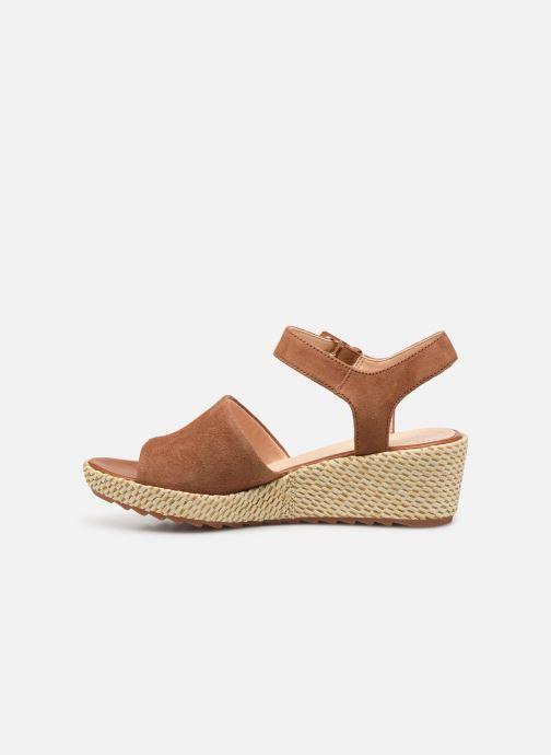 Sandales et nu-pieds Clarks Kamara Sun Marron vue face