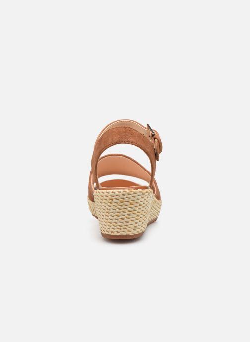 Sandales et nu-pieds Clarks Kamara Sun Marron vue droite