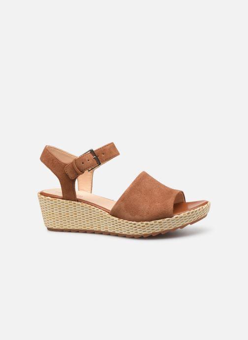 Sandales et nu-pieds Clarks Kamara Sun Marron vue derrière