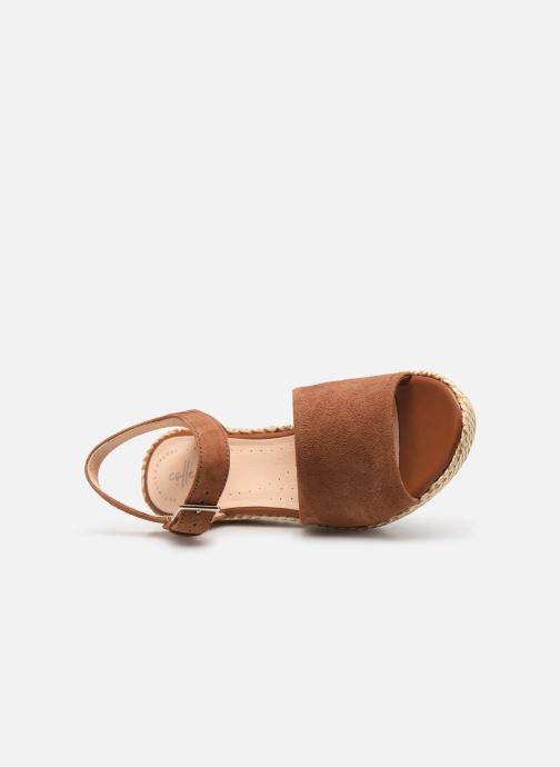 Sandales et nu-pieds Clarks Kamara Sun Marron vue gauche