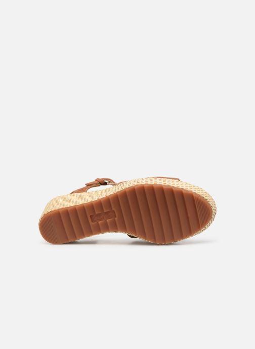 Sandales et nu-pieds Clarks Kamara Sun Marron vue haut