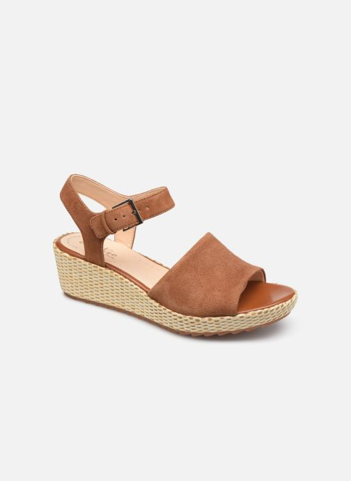 Sandaler Clarks Kamara Sun Brun detaljeret billede af skoene