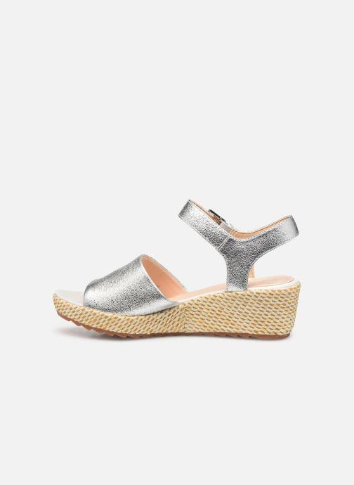 Sandales et nu-pieds Clarks Kamara Sun Argent vue face