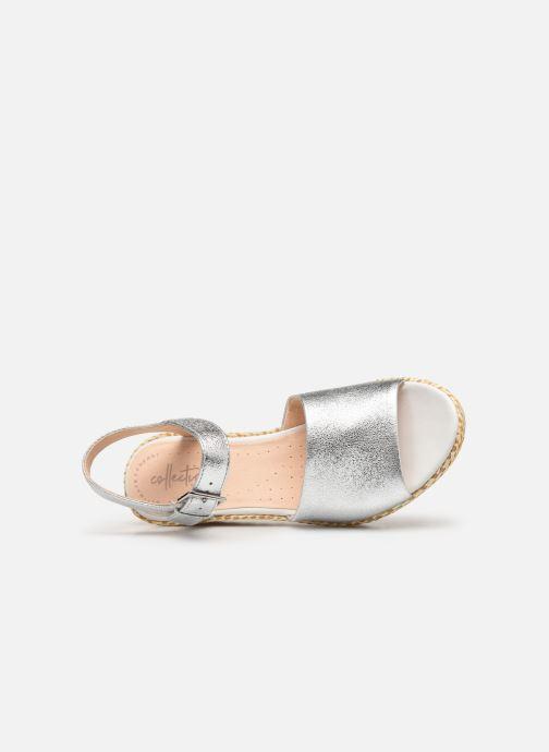 Sandales et nu-pieds Clarks Kamara Sun Argent vue gauche