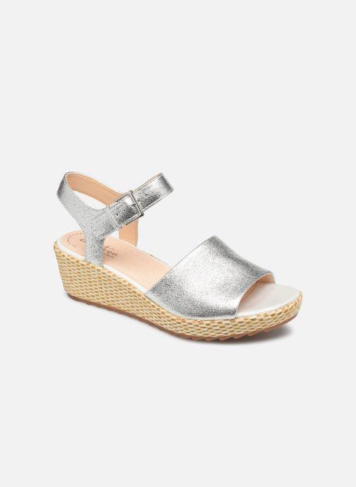 Sandales et nu-pieds Clarks Kamara Sun Argent vue détail/paire