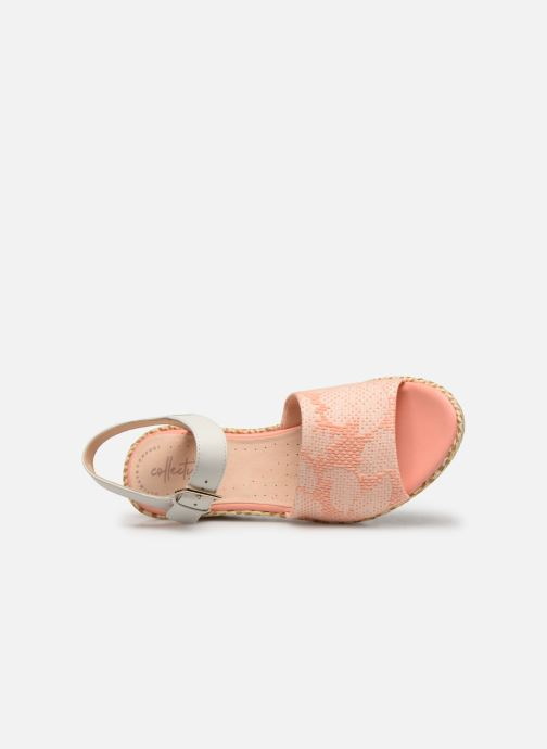 Sandals Clarks Kamara Sun Pink view from the left