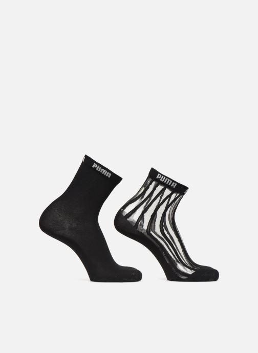 Chaussettes et collants Puma Socks WOMEN SHORT SOCK TRANSPARENT Noir vue détail/paire