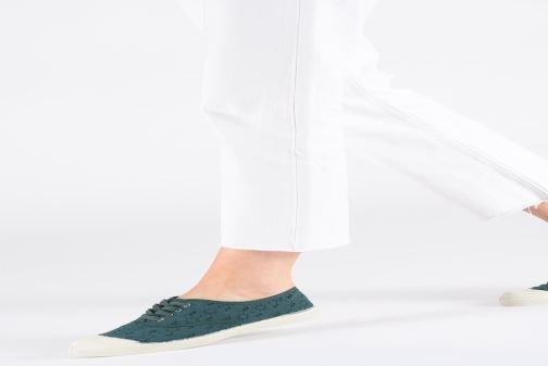 Trainers Bensimon Tennis Lacet Broderie Anglaise White view from underneath / model view