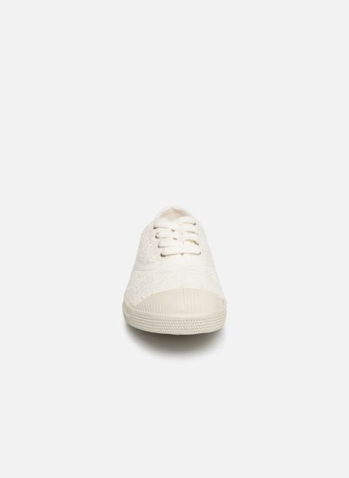 Trainers Bensimon Tennis Lacet Broderie Anglaise White model view