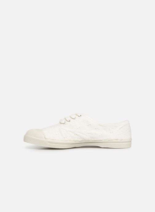 Baskets Bensimon Tennis Lacet Broderie Anglaise Blanc vue face
