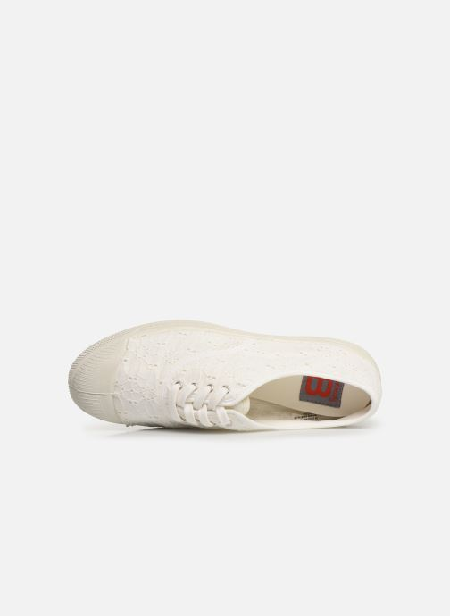 Trainers Bensimon Tennis Lacet Broderie Anglaise White view from the left