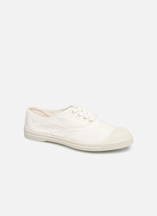 Trainers Bensimon Tennis Lacet Broderie Anglaise White detailed view/ Pair view