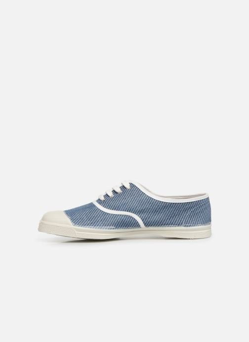 Sneakers Bensimon Tennis Lacet Denim Raye Blauw voorkant