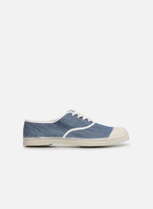 Sneakers Bensimon Tennis Lacet Denim Raye Blauw achterkant
