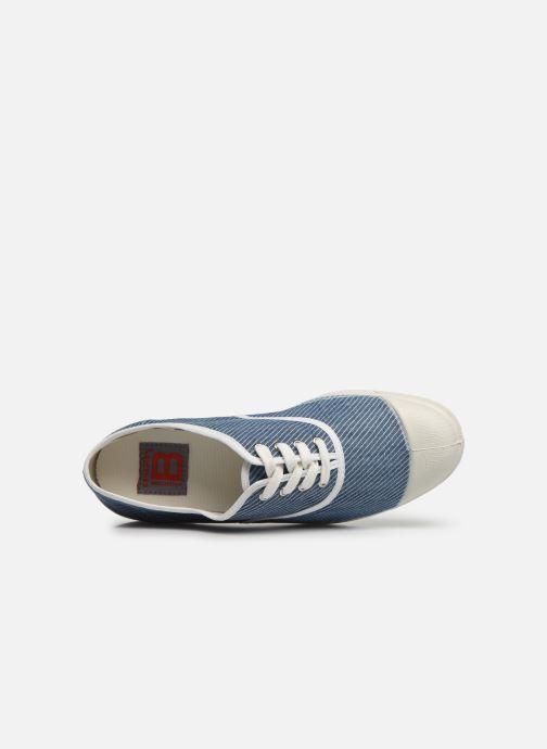 Sneakers Bensimon Tennis Lacet Denim Raye Azzurro immagine sinistra