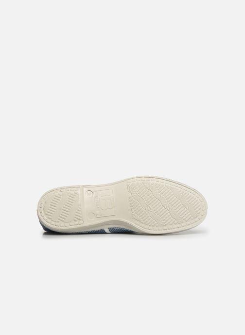 Sneakers Bensimon Tennis Lacet Denim Raye Blauw boven