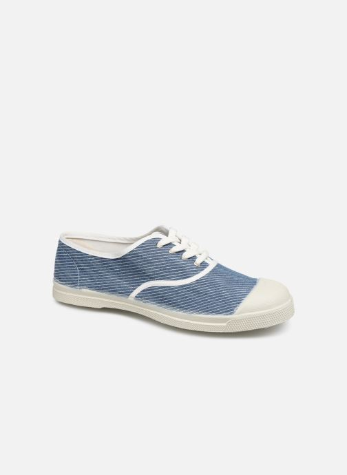 Bensimon Tennis Lacet Denim Raye (Bleu) Baskets chez