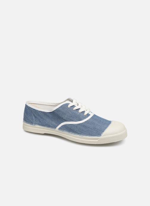 Sneakers Bensimon Tennis Lacet Denim Raye Blå detaljeret billede af skoene