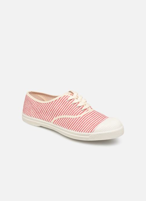Trainers Bensimon Tennis Lacet Raye Red detailed view/ Pair view