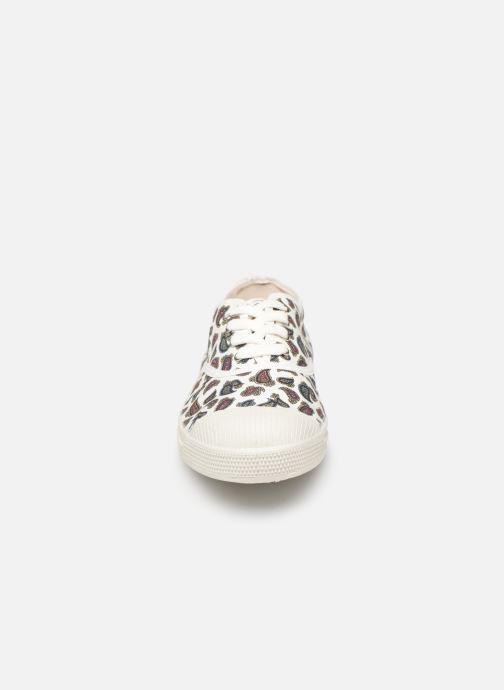 Baskets Bensimon Tennis Lacet Mini Bandana Blanc vue portées chaussures