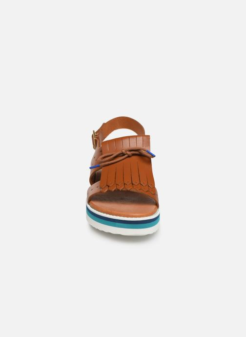 Sandals Bensimon Sandales Pattes Mexicaines Brown model view