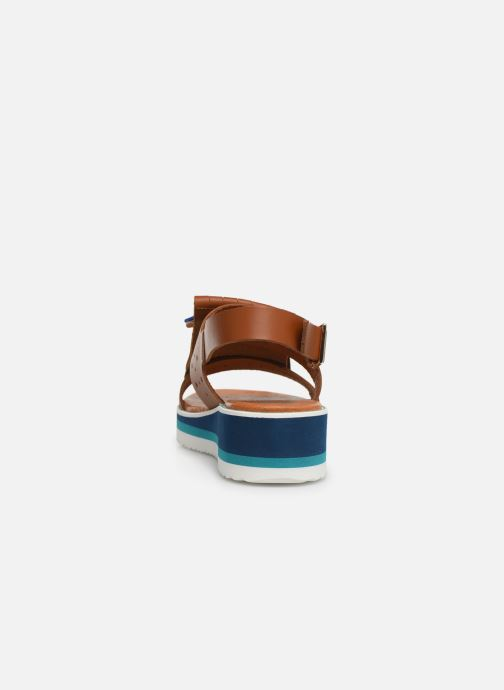 Sandals Bensimon Sandales Pattes Mexicaines Brown view from the right
