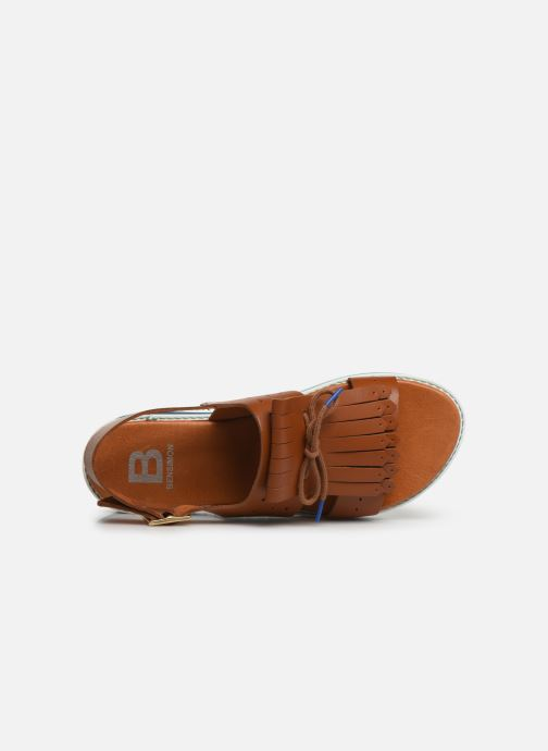 Sandals Bensimon Sandales Pattes Mexicaines Brown view from the left
