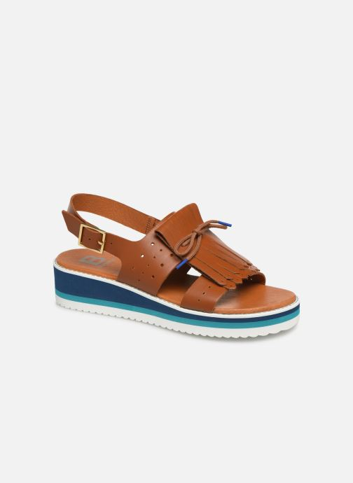 Sandals Bensimon Sandales Pattes Mexicaines Brown detailed view/ Pair view