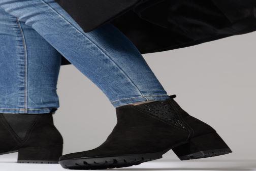 Stiefeletten & Boots Marco Tozzi 2-2-25462-21  001 schwarz ansicht von unten / tasche getragen