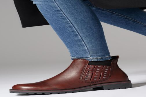 Ankle boots Marco Tozzi 2-2-25480-21  507 Burgundy view from underneath / model view
