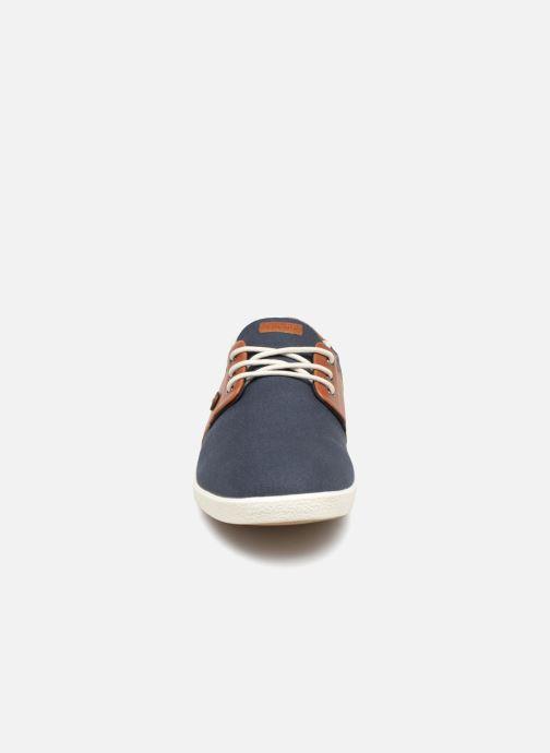 Baskets Faguo Cypress Cotton Leather Bleu vue portées chaussures