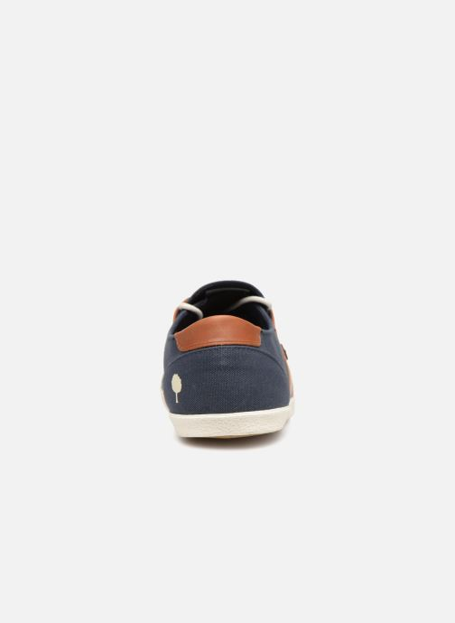Baskets Faguo Cypress Cotton Leather Bleu vue droite