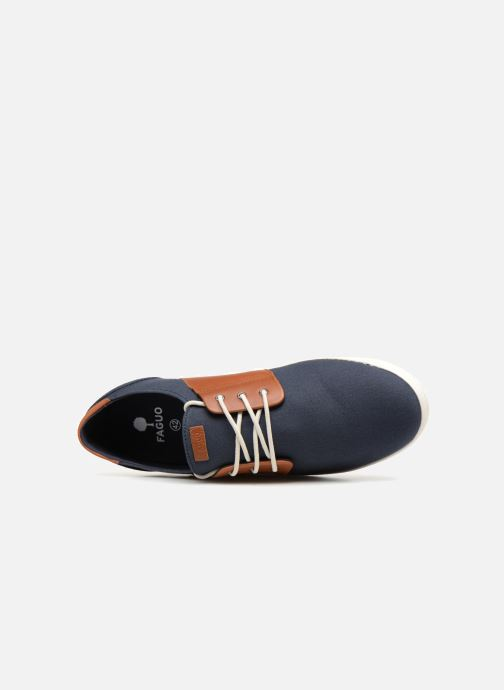 Sneakers Faguo Cypress Cotton Leather Blauw links