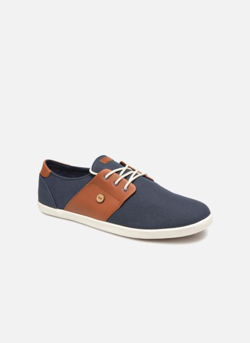 Baskets Faguo Cypress Cotton Leather Bleu vue détail/paire