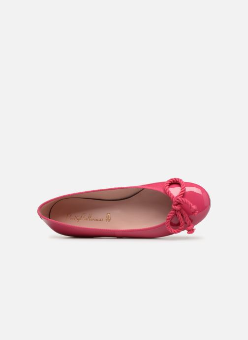 Ballet pumps Pretty Ballerinas Rosario Shade Pink view from the left