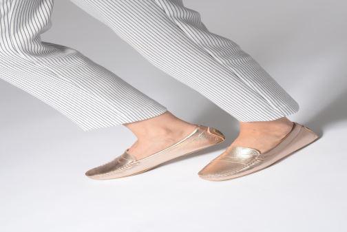 Mocassins Pretty Ballerinas 43162 Or et bronze vue bas / vue portée sac