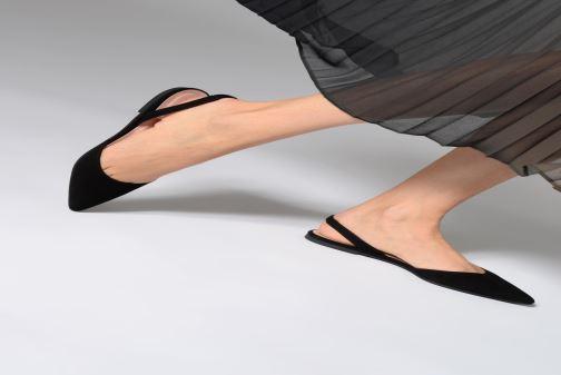 Ballerinas Pretty Ballerinas 47989 schwarz ansicht von unten / tasche getragen